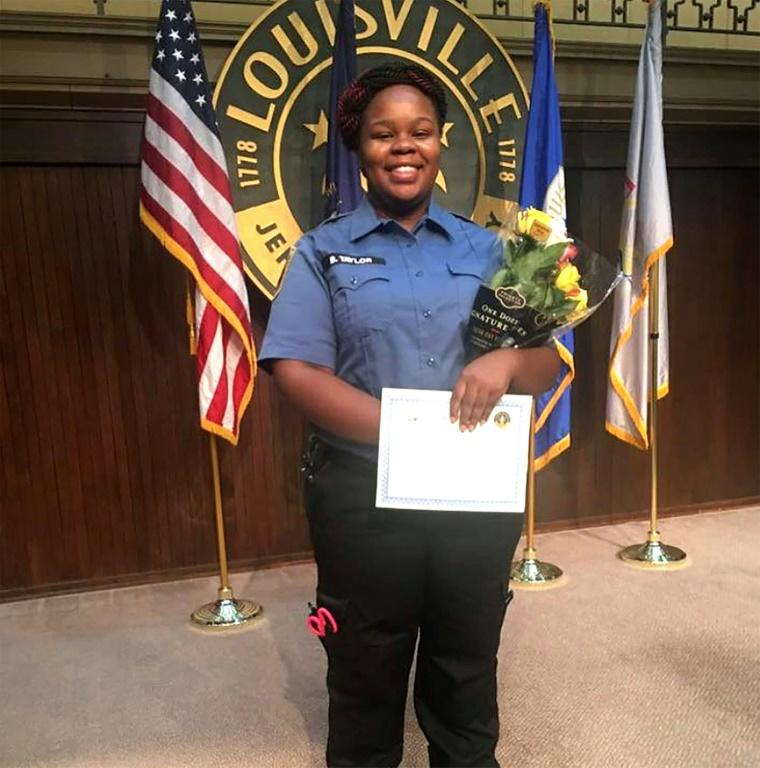 Breonna Taylor, shown at a graduation ceremony, was shot dead by police on March 13