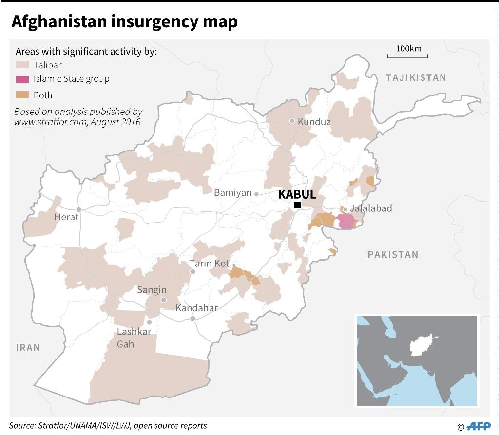 """Afghan officials are pushing to create """"safe zones"""" for Taliban insurgents in a bid to wean them away from their traditional sanctuaries inside Pakistan (AFP Photo/-, -)"""