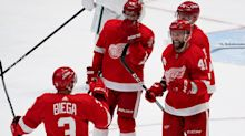 Detroit Red Wings fall short in shootout, 3-2, in Dallas, after Luke Glendening's 2 goals