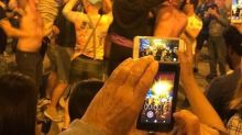 Real Madrid Fans Celebrate Champions League Final Victory in Madrid's Puerta del Sol