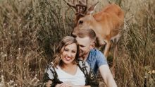 Deer photobombs couple's engagement shoot: 'We were scared for our lives'