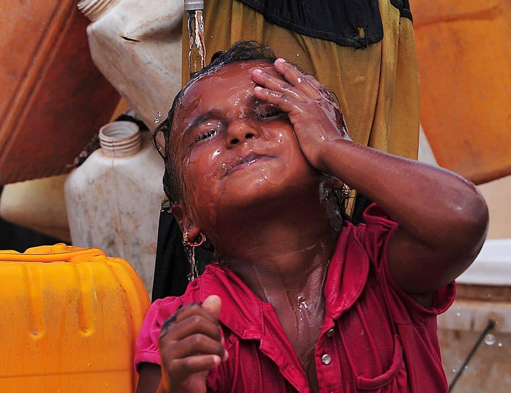 "Over 2,000 Yemenis have made the Markazi camp their home, fleeing the Arabian Peninsula to Djibouti across the narrow Bab al-Mandeb straits -- the ""Gate of Tears"" in Arabic (AFP Photo/Simon Maina)"