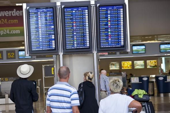 """<p>We all hate flight delays and even a few hours can leave us peeved, but holidaymakers on a Monarch Airlines plane from Tenerife were <a href=""""http://travel.aol.co.uk/2012/08/23/holidaymakers-stranded-tenerife-50-hours-monarch-plane-fault/"""" target=""""_blank"""">stranded on the Canary Island for a whopping 50 hours</a> in August 2012 when their plane suffered a fault. The crew discovered a problem with the door hatch and asked passengers to get off the plane and wait for three hours. They then spent another hour on the plane before being put up in a hotel. A replacement plane eventually flew them to Birmingham.</p>"""