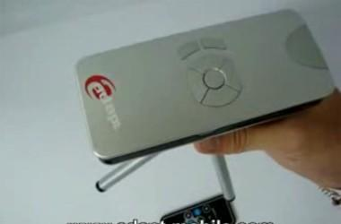 Adapt's ADPP-100 pocket projector shown on video
