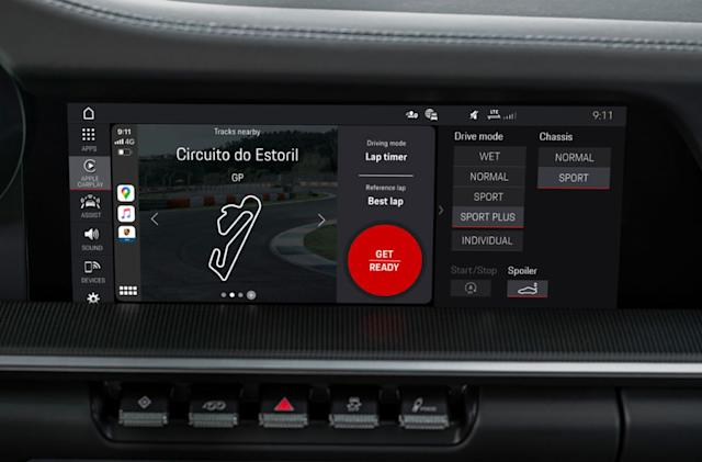 Porsche's track app uses CarPlay to show lap data while you drive