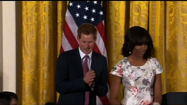 Prince Harry meets First Lady