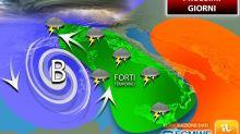 Meteo, ciclone in arrivo sull'Italia