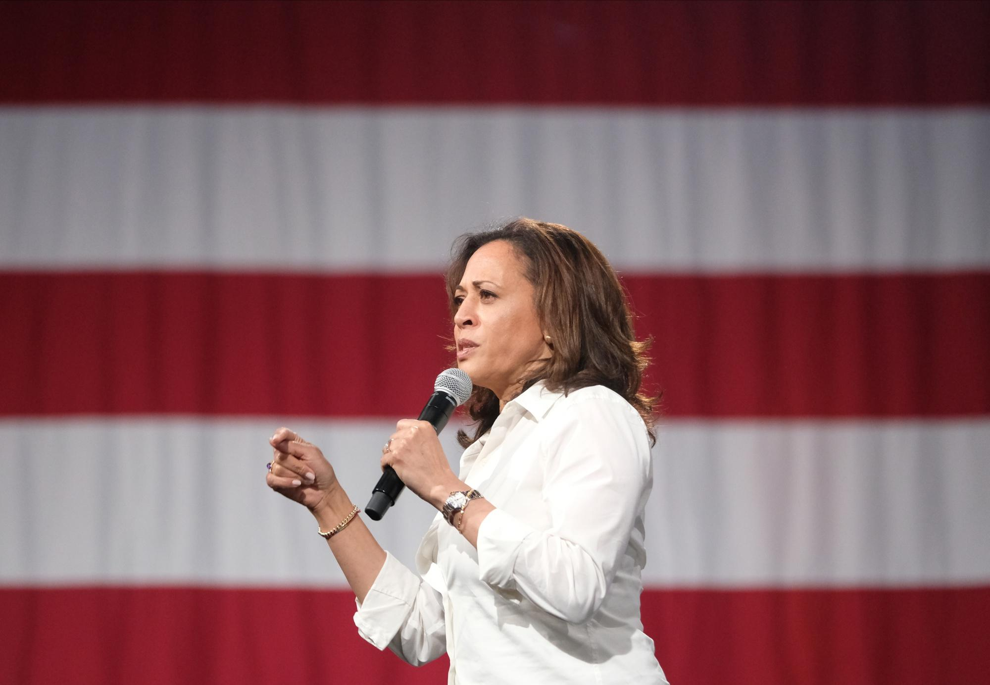 'I Believe in Capitalism': Kamala Harris Courts Big Donors in the Hamptons