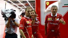 Vettel's hopes of regaining title lead wrecked in Singapore GP crash