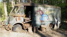 Van used by rock icons Aerosmith in '70s found in the woods