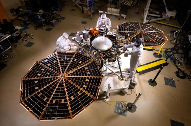 The Mars InSight lander is on track to launch in May