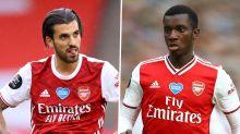 Fulham - Arsenal, Altercation entre Eddie Nketiah et Dani Ceballos à l'échauffement