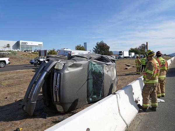 San Diego DUI Driver Flips On I-15 After Driving 100 MPH: CHP