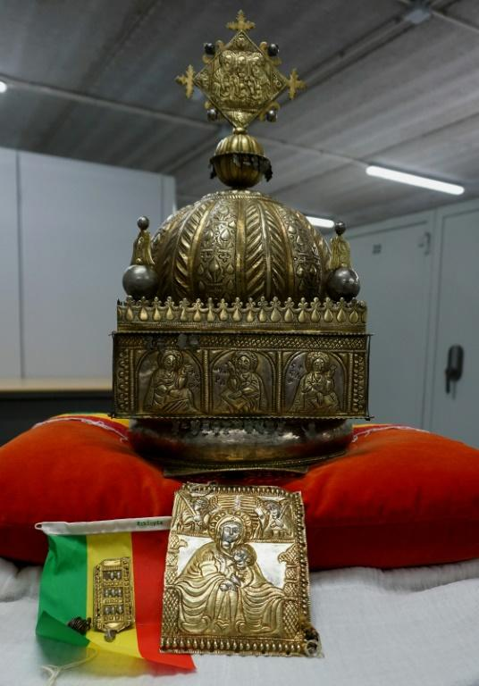 The crown, which is currently being held in a secure location in the Netherlands, would soon be handed to the Ethiopian authorities (AFP Photo/Jan HENNOP)