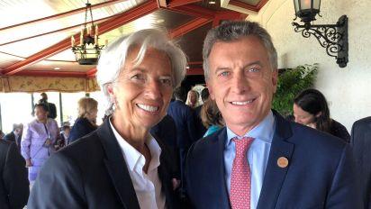 """Llega Lagarde y se reúne con el Presidente en medio de la """"tormenta"""""""