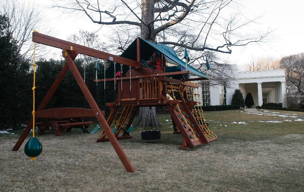 S Donate White House Swing Set