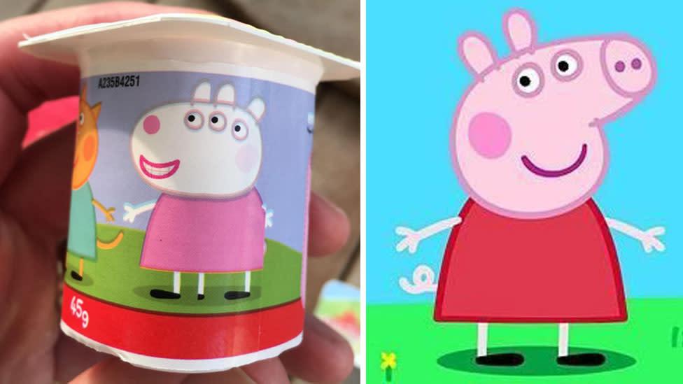 Rude Image Of Peppa Pig On Yoghurt Label Goes Viral
