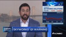 Skyworks sinks on weaker demand for smartphones