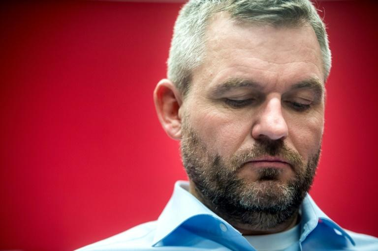Slovakia's outgoing prime minister Peter Pellegrini has conceded defeat (AFP Photo/VLADIMIR SIMICEK)