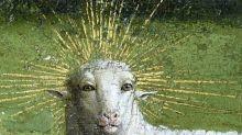 Restorers unveil original face of Belgium's 'Mystic Lamb'