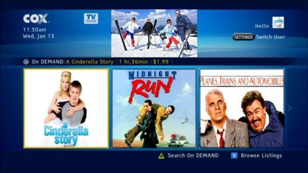 Cox starts rolling out Trio tru2way guide software... somewhere