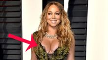 Mariah Carey suffers Oscars fashion fail with nip slip