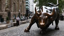 US STOCKS-Wall Street gains as markets look to aid package, Nasdaq closes above 11,000
