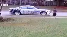 Heartwarming story behind video of police officer pulling up next to boy