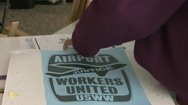 Airport Workers Protest at LAX on Busiest Travel Day