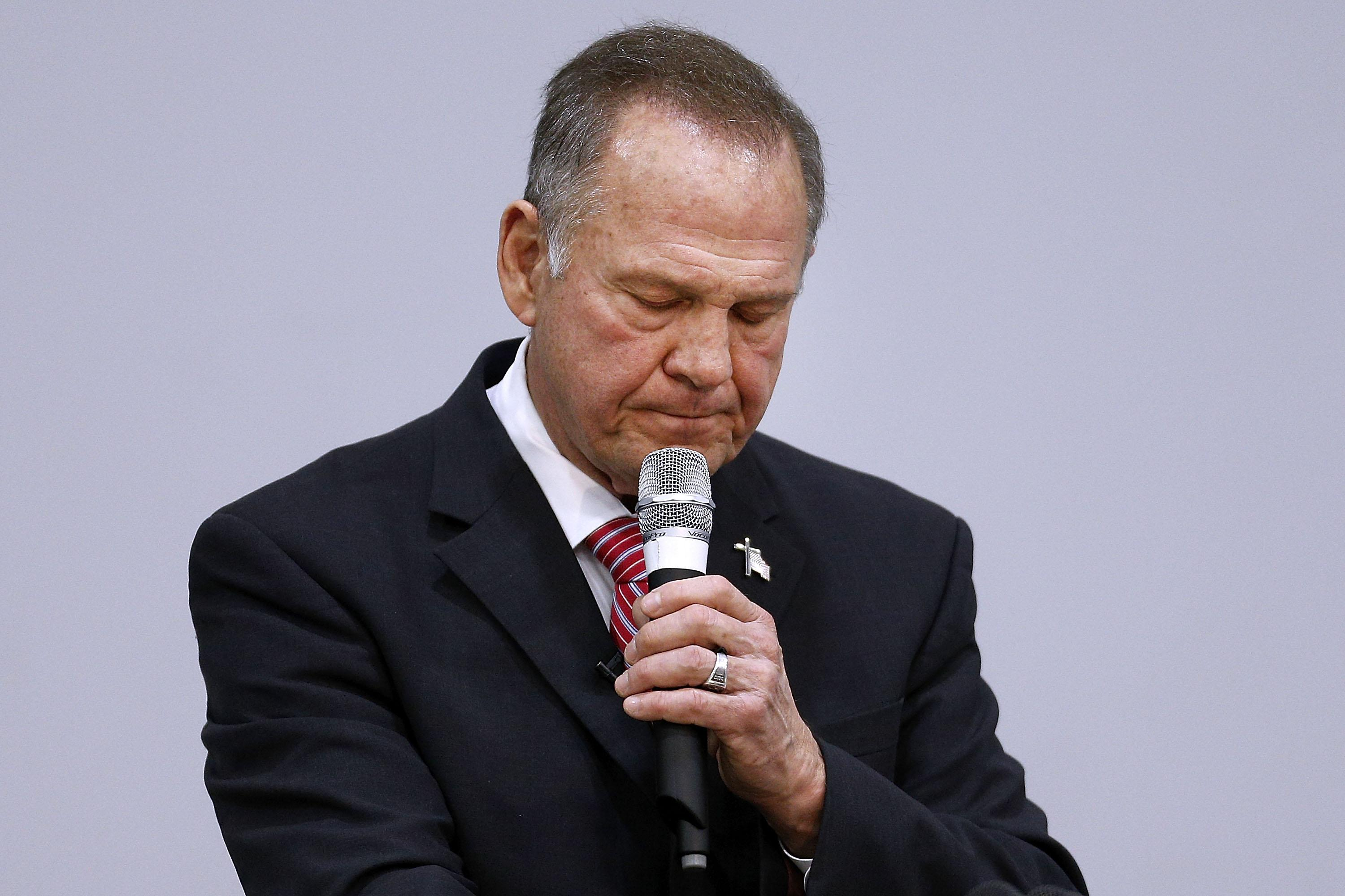 Roy Moore fights his inner demons. It's not pretty.