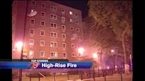 Chicago officer, man injured in Lawndale high-rise fire