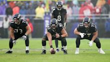 Ravens give first hint at starting offensive line at training camp