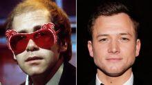 Taron Egerton teases the first look at his Elton John movie