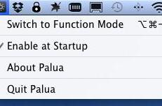 Palua allows you to quickly switch between standard and Apple function keys