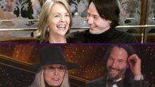 Saltaron chispas entre Diane Keaton y Keanu Reeves al presentar el Óscar a Mejor Guion