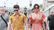 Priyanka Chopra Enjoyed a Romantic Boat Ride in Paris With Nick Jonas While Wearing a Plunging Maxi Dress