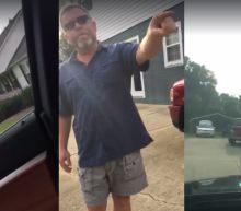 North Carolina woman confronts man flying Nazi flag at his home