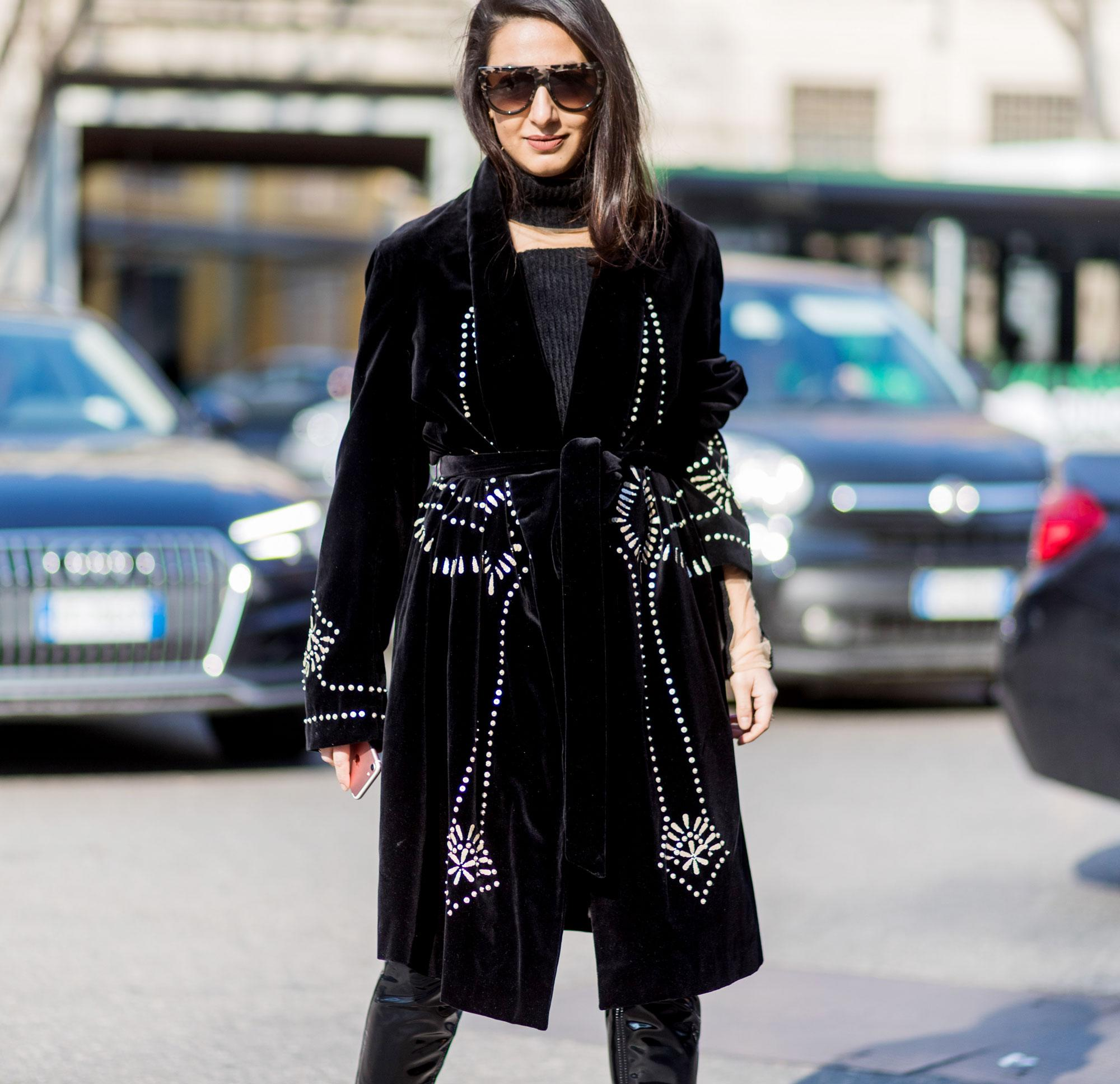 Winter Fashion Trends Must Have Black Velvet Coats for 2018