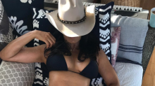 Padma Lakshmi, 48, wows fans in bikini and a cowboy hat: 'What a body!'