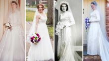 Women recycle grandmas' wedding gowns in stunning snaps