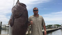 Man Catches Insanely Large 300-Pound Grouper