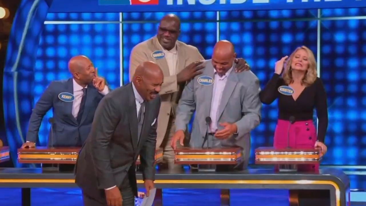 Charles Barkley's inappropriate answer on 'Family Feud' shocks teammates
