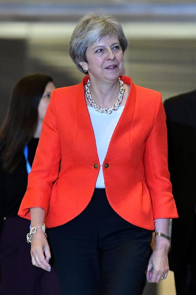 Prime Minister Theresa May arrived in Birmingham just days after the EU rejected her plan for close future economic ties (AFP Photo/BEN STANSALL)