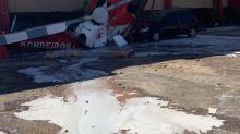 Helicóptero do Corpo de Bombeiros cai no DF; veja vídeo