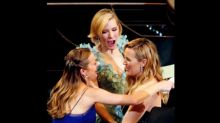 Everyone's Wondering If This Oscars Girly Huddle Means Kate Winslet's Pregnant