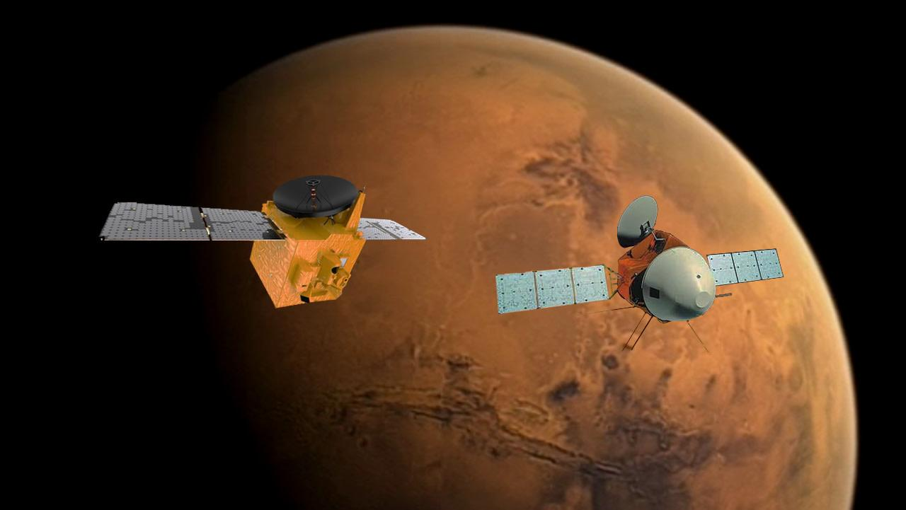 Two 'first-timer' Mars missions slipped flawlessly into orbit this week – Yahoo News Canada