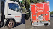 'I'm not moving': Coles delivery driver's 'disgraceful' parking job