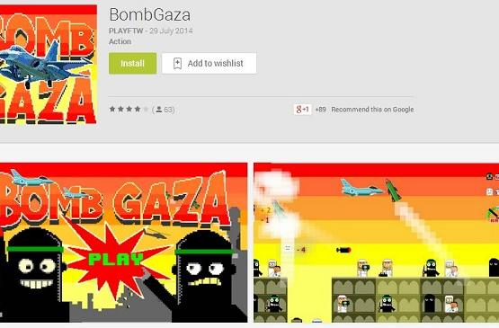 'Bomb Gaza' among controversial games found on Google Play store