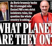 'What planet are they on?': Newspaper front pages attack Boris Johnson and Dominic Cummings