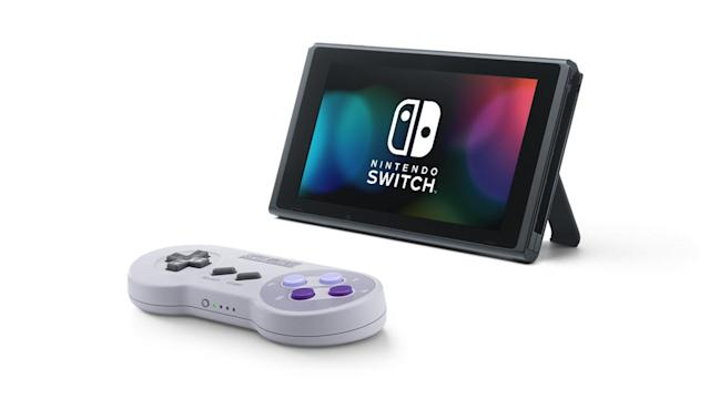 Nintendo's SNES-style Switch controllers are now available